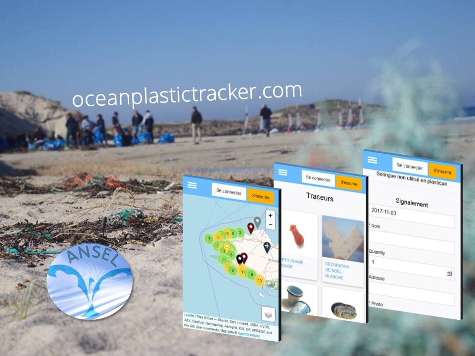 Ocean plastic tracker Ansel et Explore