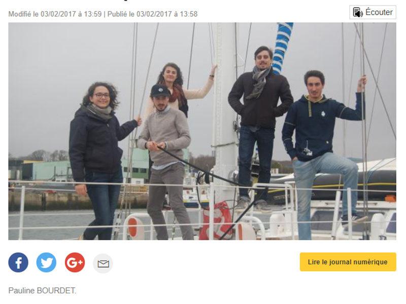 Concarneau: Embarquement à bord du service civique