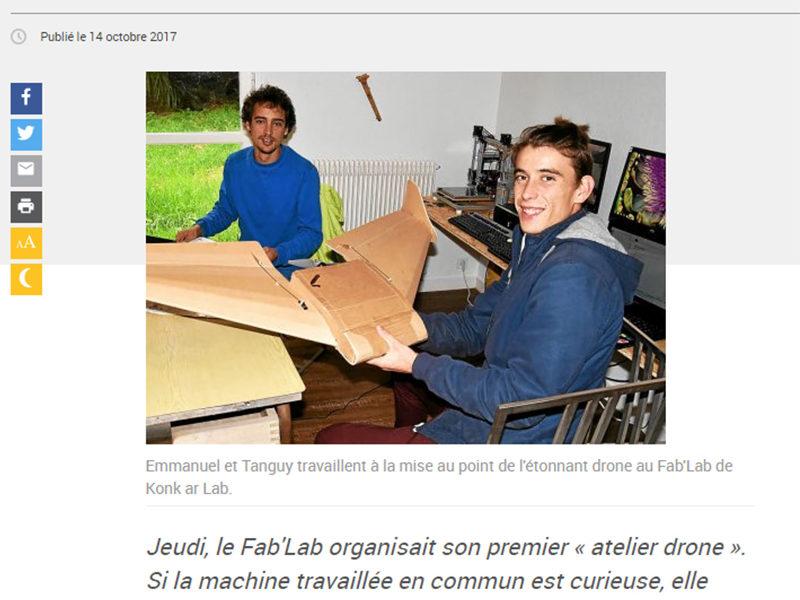 Fab'Lab. Partenariat pour un drôle de drone