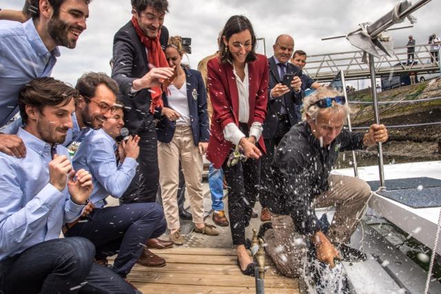 Plastic Odyssey baptise son démonstrateur à la base Explore