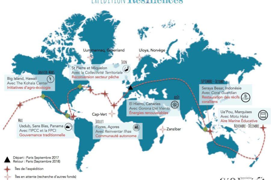 Déjà 5 îles investiguées par l'expédition Résîliences, Coup de pouce Explore 2017