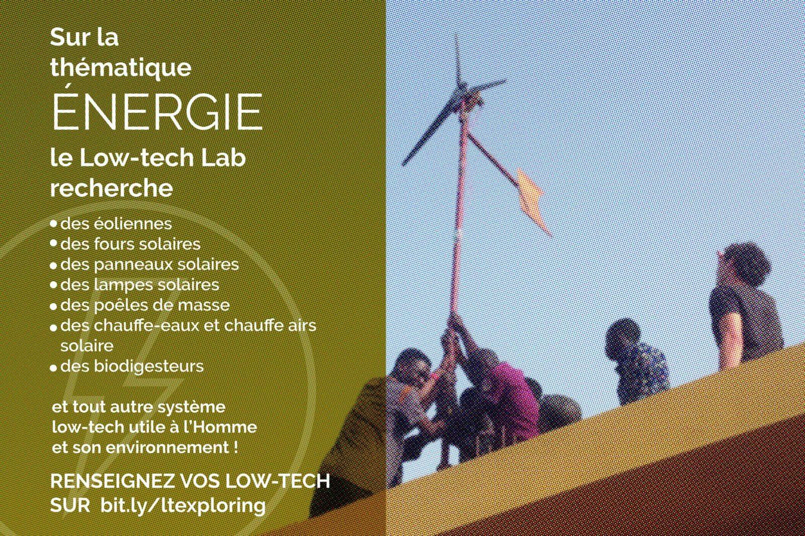recherche low-tech energie