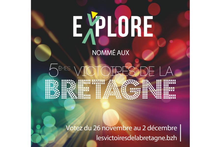 Votez pour Explore aux 5èmes Victoires de la Bretagne !