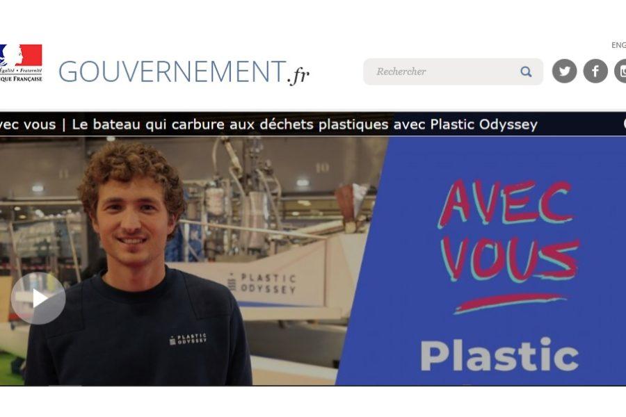 Plastic Odyssey s'invite sur le site internet du gouvernement