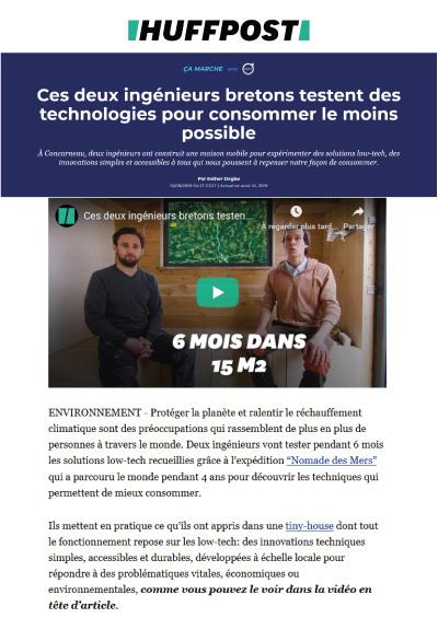 Ces deux ingénieurs bretons testent des technologies pour consommer le moins possible