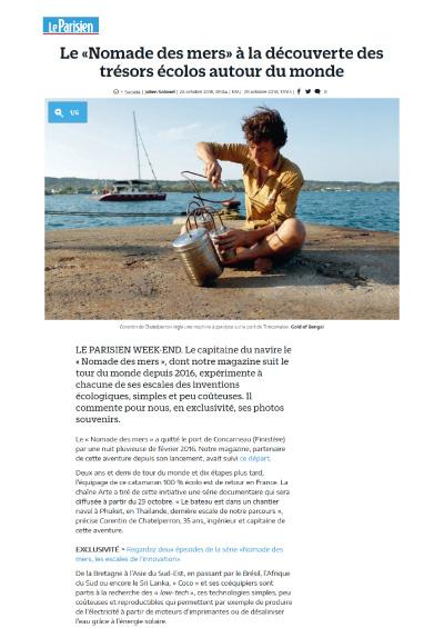 Le «Nomade des mers» à la découverte des trésors écolos autour du monde