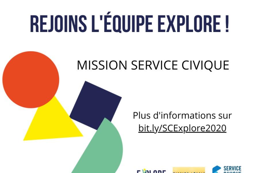 Mission de Service Civique : rejoignez l'équipe Explore !