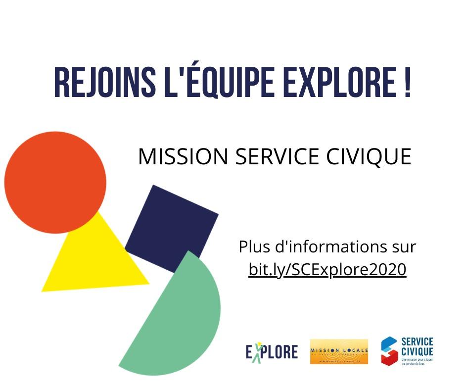Rejoins l'équipe Explore en mission de service civique